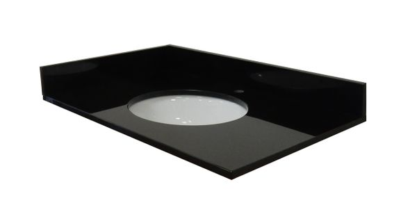 Absolute Black Collection Vanity Top, 43""
