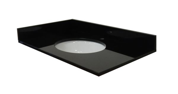 Absolute Black Collection Vanity Top, 49""