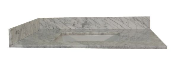 Carrara White Collection Vanity Top, 43""