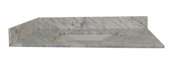 "Carrara White Collection Vanity Top, 43"""