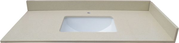 """Cream Crystal Collection Vanity Top, 43"""""""