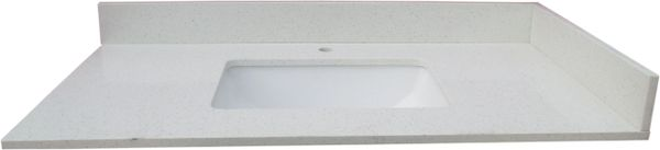 White Crystal Collection Vanity Top, 37""