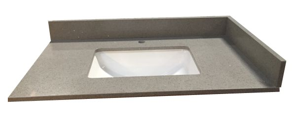 Grey Crystal Collection Vanity Top, 37""