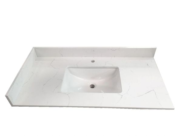 N.Ajax White Collection Vanity Top, 37""