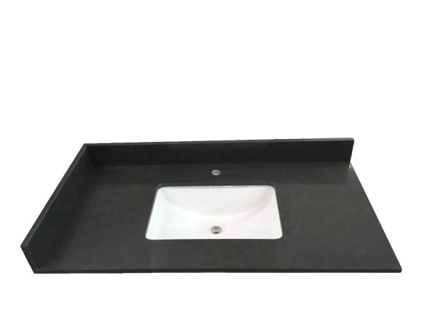 """Cloudy Wave Collection Vanity Top, 37"""""""