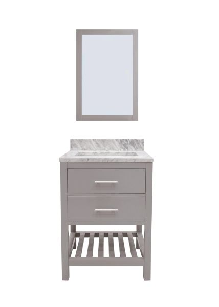 "Caribbean Breeze Vanity Set, 30"" Modern Grey"