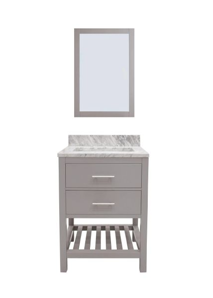 "Caribbean Breeze Vanity Set, 36"", Modern Grey"