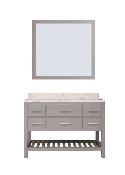 "Caribbean Breeze Vanity Set, 48"", Modern Grey"