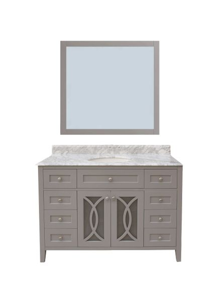 "Margaret Garden Collection Vanity Set, 48"", Cayman Grey"