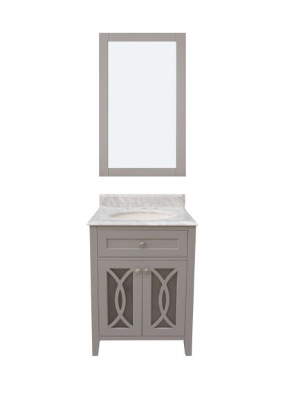 "Margaret Garden Collection Vanity Set, 24"", Cayman Grey"
