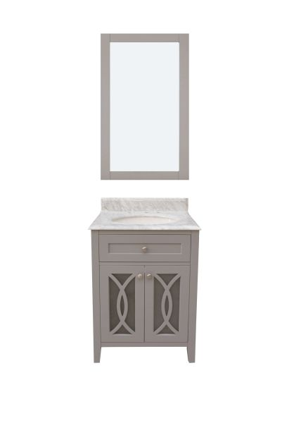"Margaret Garden Collection Vanity Set, 36"", Cayman Grey"