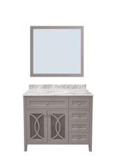 "Margaret Garden Collection Vanity Set, 42"" DR, Cayman Grey"