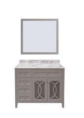 "Margaret Garden Collection Vanity Set, 42"" DL, Cayman Grey"