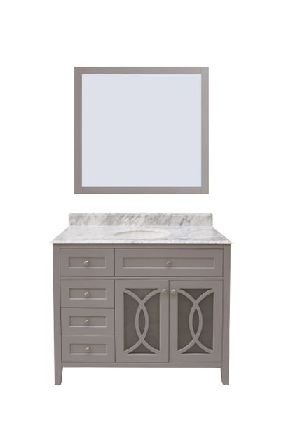 "Margaret Garden Collection Vanity Set, 42"" DL, Cayman Grey"