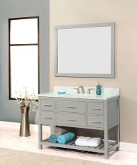 "Caribbean Breeze Vanity Set, 42"", Modern Grey"