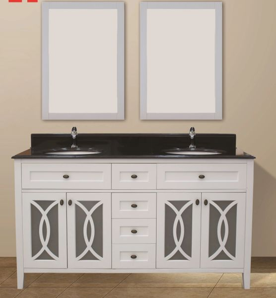 "Margaret Garden Collection Vanity Set, 60"", Silky White"