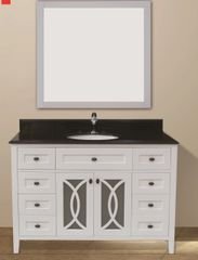 "Margaret Garden Collection Vanity Set, 48"", Silky White"