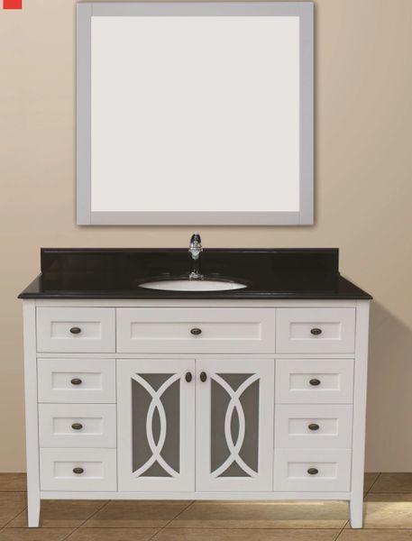 "Margaret Garden Collection Vanity Set, 48"", Silky White"