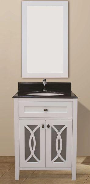"Margaret Garden Collection Vanity Set, 24"", Silky White"