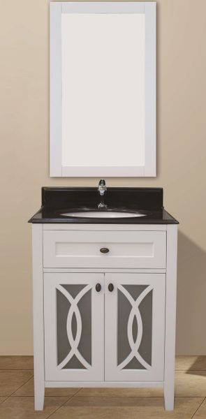 "Margaret Garden Collection Vanity Set, 30"", Silky White"