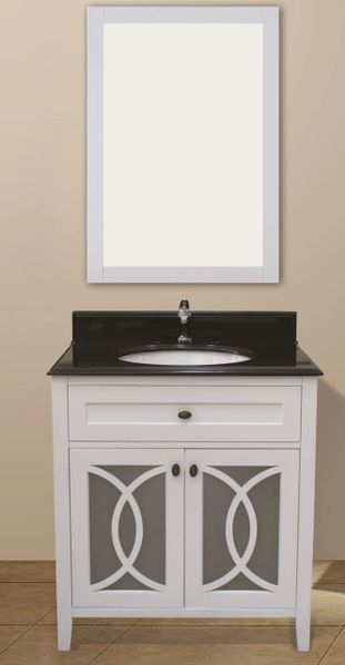 "Margaret Garden Collection Vanity Set, 36"", Silky White"