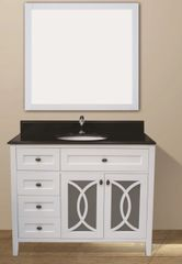 "Margaret Garden Collection Vanity Set, 42"" DL, Silky White"