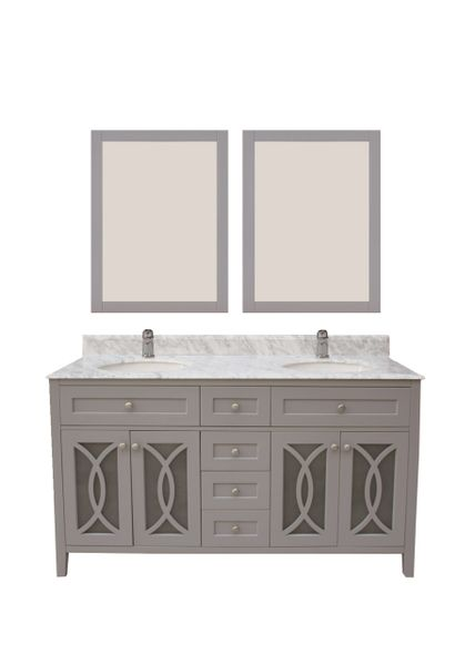 "Margaret Garden Collection Vanity Set, 60"", Cayman Grey"