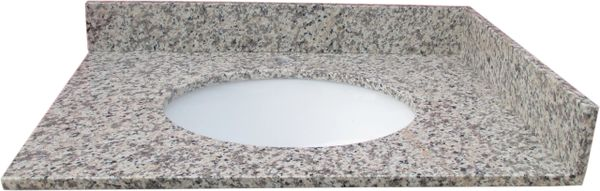 """Tiger Skin Red Collection Vanity Top, 37"""""""