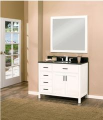 "Arezzo Collection Bathroom Vanity Set, 42"" DL, Silky White"