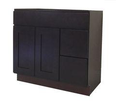 Beech Espresso Vanity Cabinet BE-3621DR