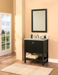 "Hampton Bay Collection Bathroom Vanity Set , 30"", Silky Black"