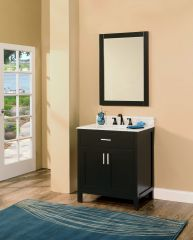 "Arezzo Collection Bathroom Vanity Set, 30"", Silky Black"