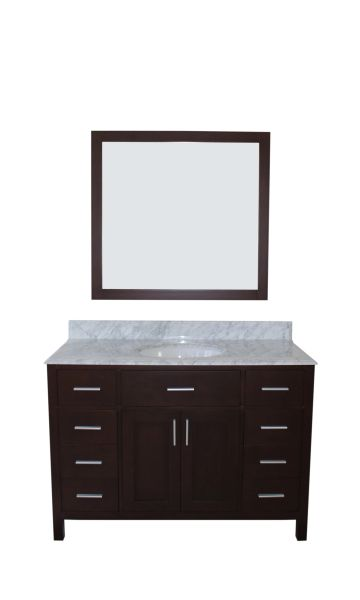 "Arezzo Collection Bathroom Vanity Set, 48"", Silky Black"