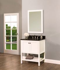"Hampton Bay Collection Bathroom Vanity Set , 30"" DL, Silky White"