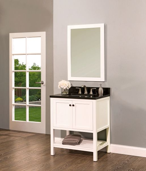 "Hampton Bay Collection Bathroom Vanity Set , 30"" DL, Silky White"
