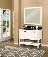 "Hampton Bay Collection Bathroom Vanity Set , 42"" DL Silky White"