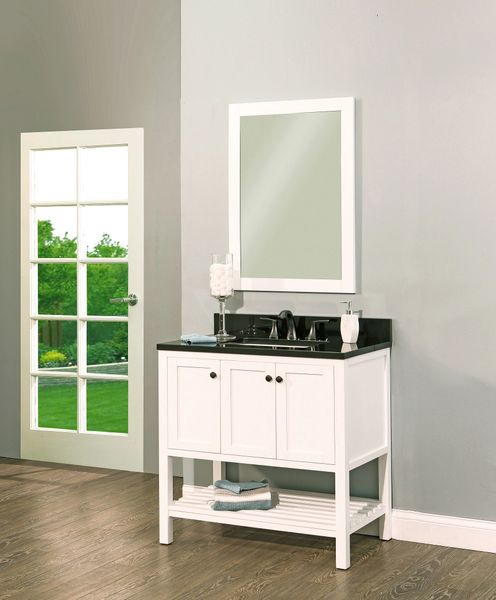"Hampton Bay Collection Bathroom Vanity Set , 36"" Silky White"