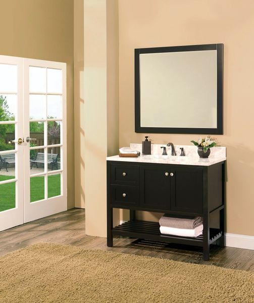 "Hampton Bay Collection Bathroom Vanity Set , 42"" DL Silky Black"