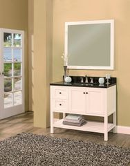 "Hampton Bay Collection Bathroom Vanity Set , 42"" DR Silky White"