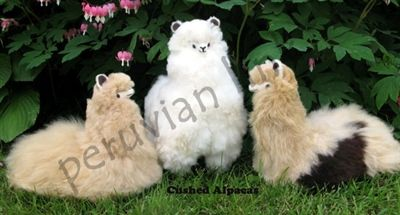 Stuffed Standing Alpaca