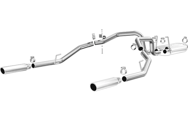 mag15249 Magnaflow 09-19 Dodge Ram 1500 V6 3 6L Dual Spilt Rear Exit  Polished Stainless C/B Perf Exhaust