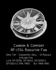 CANNON & CO #1704 Radiator Fan 48Inch Open Top