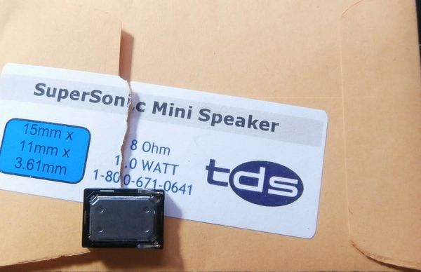 TDS SuperSonic Mini 15 x 11 mm Speaker [Sugar Cube]
