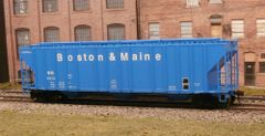 EXACTRAIL HO EE-1701-4 BOSTON & MAINE #5412 EVANS 4780 Cu Ft Covered Hopper