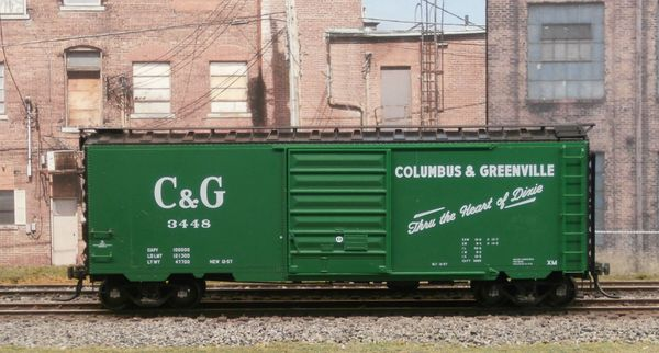 KADEE HO #5243 COLUMBUS & GREENVILLE #3448 40' PS-1 BOXCAR