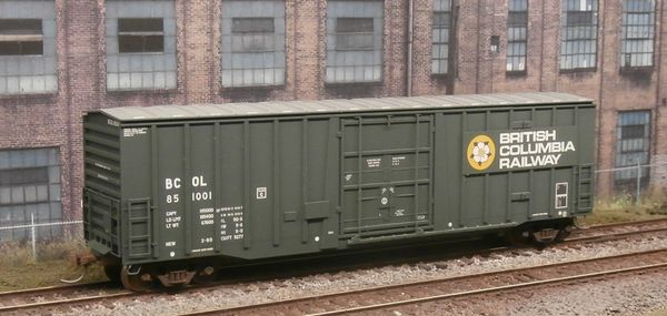 ATLAS MASTER HO 20002681 BRITISH COLUMBIA #851001 50' NRC PLUG DOOR BOXCAR