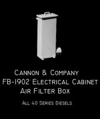 CANNON & CO #1902 ALL 40 SERIES ECAFB (Electrical Cabinet Air Filter Box)