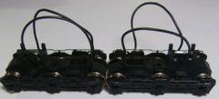 KATO HO EMD SD40/SD45 BLACK FLEXI-COIL HIGH CYLINDER POWER TRUCKS NEW