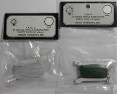 CIR-KIT CONCEPTS 32 GAUGE WHITE AND GREEN 50' SINGLE CONDUCTOR WIRE
