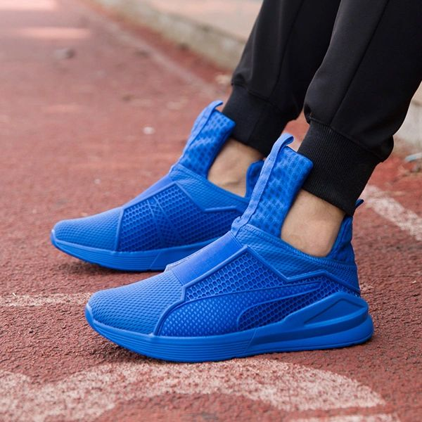 Solid Gauze Men Sporty Ankle Boots